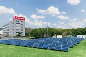 成田工場 太陽光発電所「BCP対策モデルパーク」がオープン